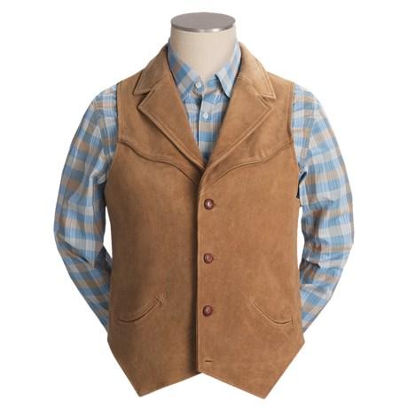 Scully Calf Suede Lapel Vest (For Men)