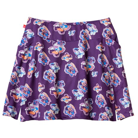 Terry Padded Flare Cycling Skort (For Plus Size Women)