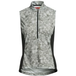Terry Breakaway Mesh Cycling Jersey - Zip Neck, Sleeveless (For Women)