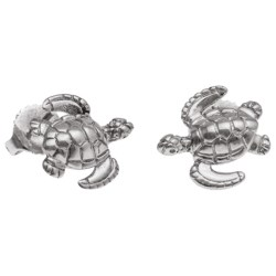 Wyland Turtle Earrings - Sterling Silver