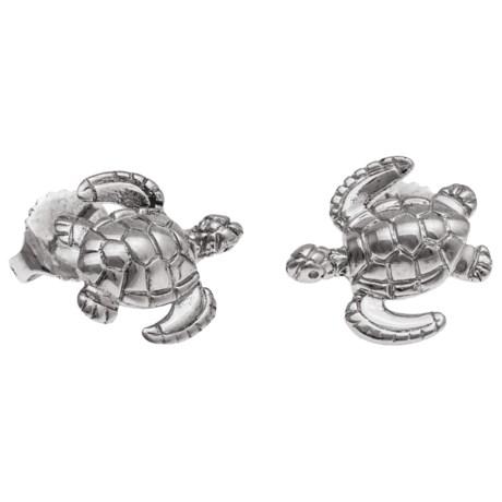 Wyland Turtle Earrings - Sterling Silver