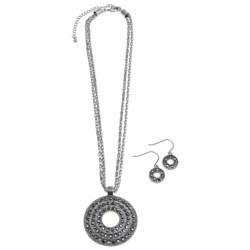 Jokara Hematite Pendant and Earring Set