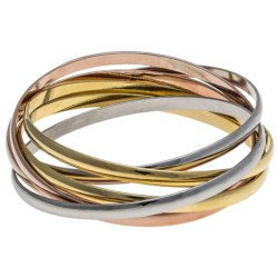 Jokara Tri-Color Bangle Set - 6-Piece