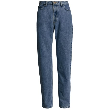 Relaxed Fit Jeans - Tapered Leg (For Women)
