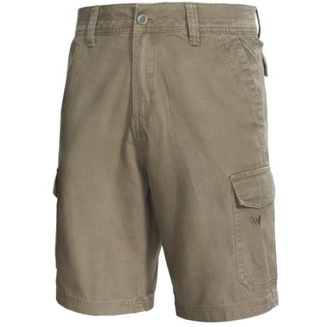 White Sierra Northridge Cargo Shorts - Cotton Canvas (For Men)
