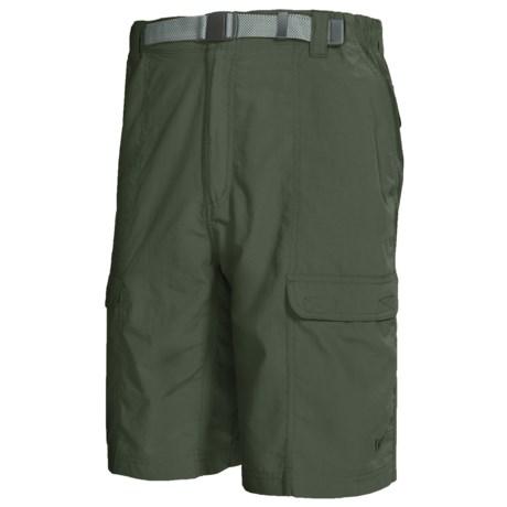 White Sierra Safari Shorts - UPF 30 (For Men)