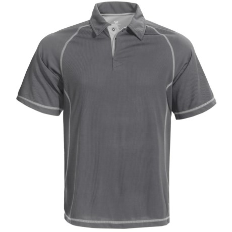 White Sierra Granite Creek CoolMax® Polo Shirt - UPF 40+, Short Sleeve (For Men)