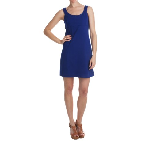 Cotton Knit Dress - Sleeveless (For Women)