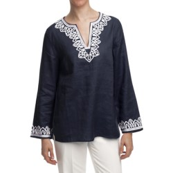 Specially made Washable Linen Tunic Shirt - Long Sleeve (For Women)