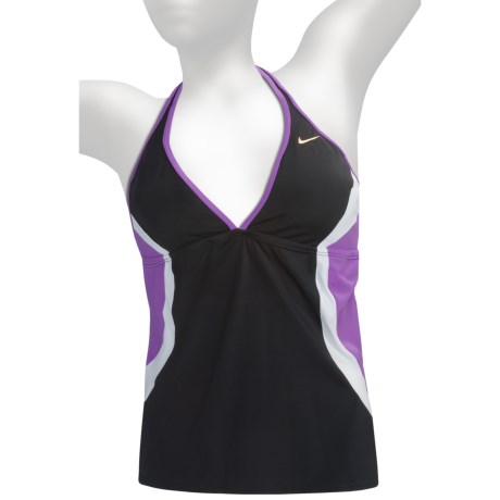 Color-Block Halter Tankini Swimsuit Top (For Women)
