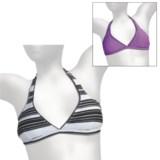 Reversible Tie Halter Bikini Top (For Women)