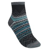 SmartWool Squiggle Stripe Socks - Merino Wool, Quarter-Crew (For Women)