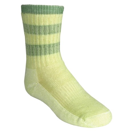 SmartWool Striped Hiking Socks - Merino Wool, Medium Crew (For Girls)