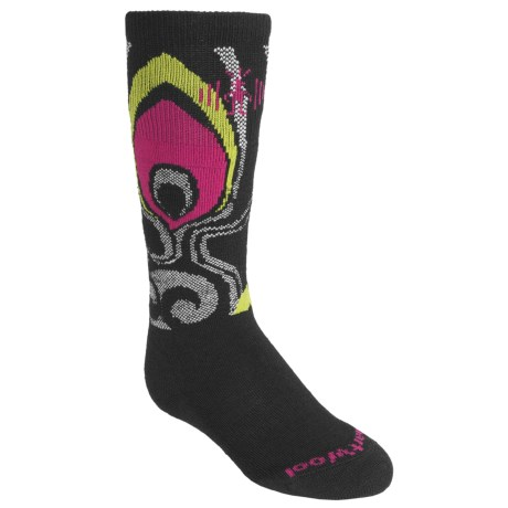 SmartWool Wintersport Feather Socks - Merino Wool, Over-the-Calf (For Girls)