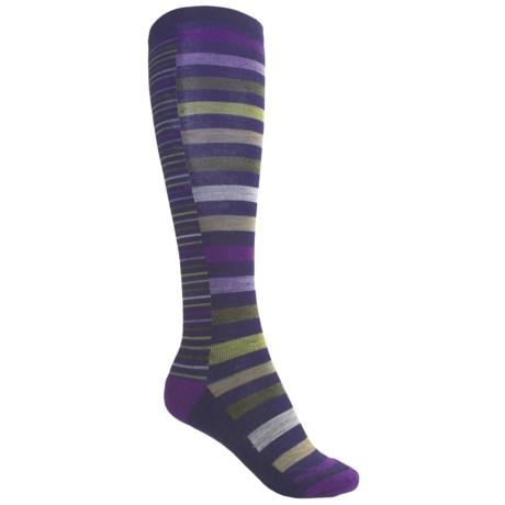 SmartWool Sassy Split Stripe Socks - Merino Wool, Over-the-Calf (For Women)