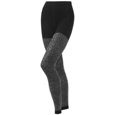 SmartWool Mirrored Footless II Tights - Merino Wool (For Women)