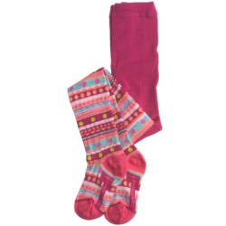 SmartWool Funky Fair Isle Tights - Merino Wool (For Girls)