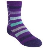 SmartWool Split Stripe Socks - Merino Wool, Crew (For Girls)