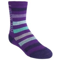 SmartWool Split Stripe Socks - Merino Wool, Crew (For Little Girls)