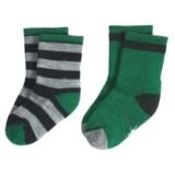 SmartWool Baby Sock Sampler - Merino Wool, 2-Pack (For Infants & Toddler Girls)