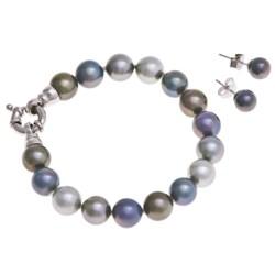 Joia de Majorca 10mm Organic Pearl Bracelet and Earring Set