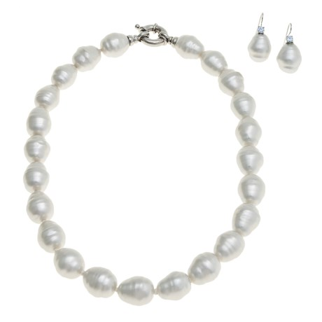 """Joia de Majorca Baroque 14x16mm Organic Pearl 18"""" Necklace and Earring Set"""