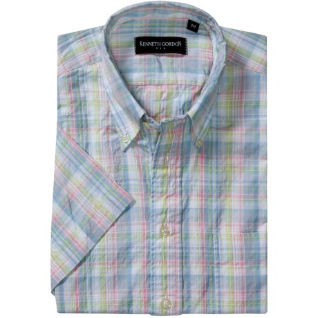 Kenneth Gordon Patterned Sport Shirt - Short Sleeve (For Men)