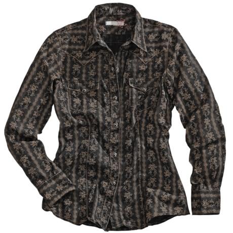 Tin Haul Wallpaper Print Shirt - Snap Front, Long Sleeve (For Women)