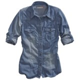 Tin Haul Western Chambray Shirt - Button Front, Long Sleeve (For Women)
