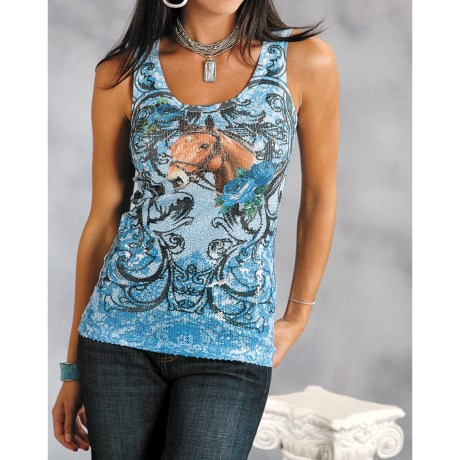 Roper Sublimation Printed Knit Tank Top (For Women)