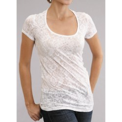 Stetson Jersey Burnout T-Shirt - Scoop Neck, Short Sleeve (For Women)