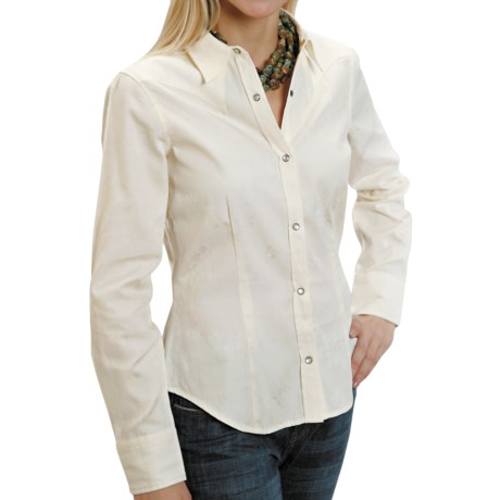 Stetson Floral Jacquard Shirt - Snap Front, Long Sleeve (For Women)