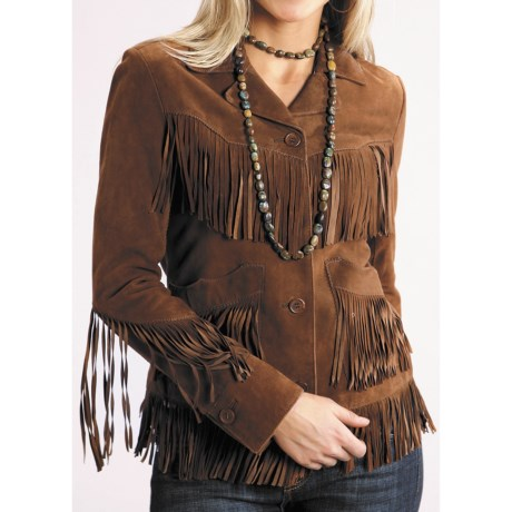 Stetson Western Fringe Jacket - Suede (For Women)