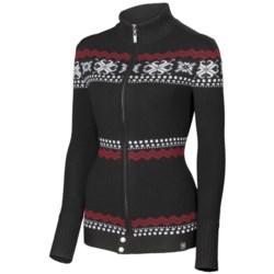 Neve Piper Cardigan Sweater - Merino Wool, Full Zip (For Women)