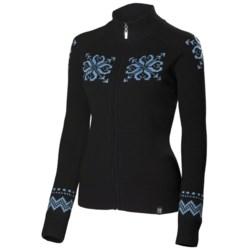 Neve Sienna Cardigan Sweater - Merino Wool, Full Zip (For Women)