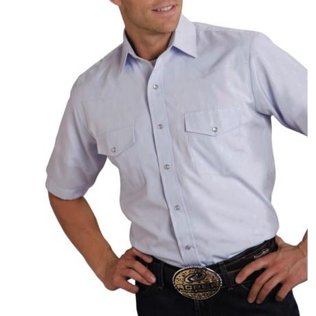 Roper Classic Horseshoes Shirt - Snap Front, Short Sleeve (For Men)