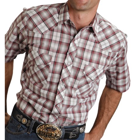 Roper Classic Plaid Shirt - Snap Front, Short Sleeve (For Men)