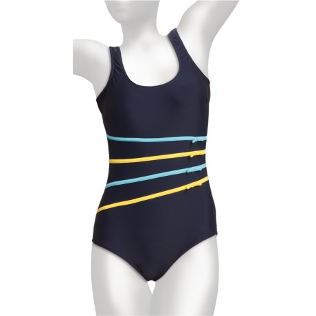 It Figures Signature Bows Swimsuit - 1-Piece, Scoop Back (For Women)