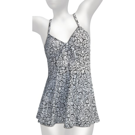 It Figures Tie-Front Swimdress - One-Piece (For Women)