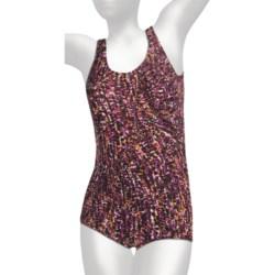 It Figures Diagonal Sheath Swimsuit - Tummy Control, 1-Piece (For Plus Size Women)