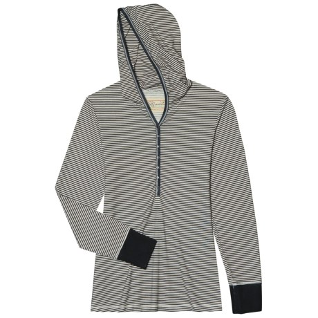 Aventura Clothing Charlie Hooded Henley Shirt - Long Sleeve (For Women)