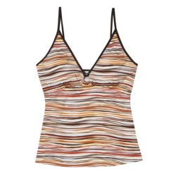 Aventura Clothing Wavy Stripes Tankini Swimsuit Top (For Women)