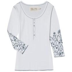 Aventura Clothing Topanga Henley Shirt - Organic Cotton, 3/4 Sleeve (For Women)