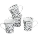 Disney Sketch Book Mugs - Set of 4