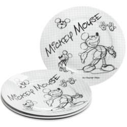 Disney Sketch Book Porcelain Salad Plates - Set of 4