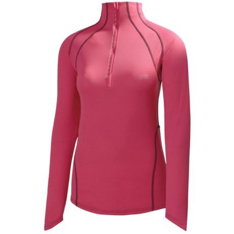 Helly Hansen Pace Shirt - UPF 30+, Zip Neck, Long Sleeve (For Women)