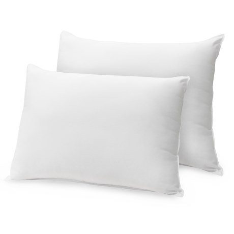 Soft-Tex Cotton Feather-Down Pillows - Queen, Set of 2