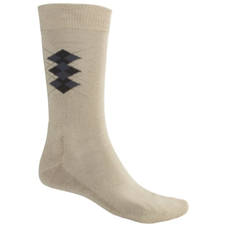 ECCO Cushioned Argyle Socks - Lightweight, Crew (For Men)