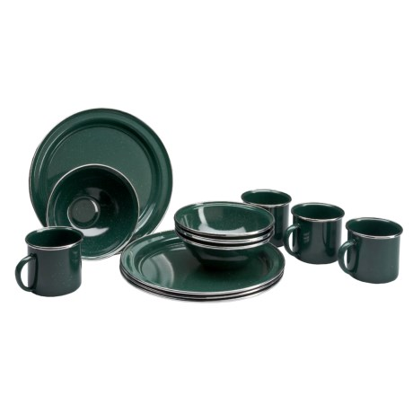 GSI Outdoors Pioneerware Enamel Dinnerware - 12-Piece Set
