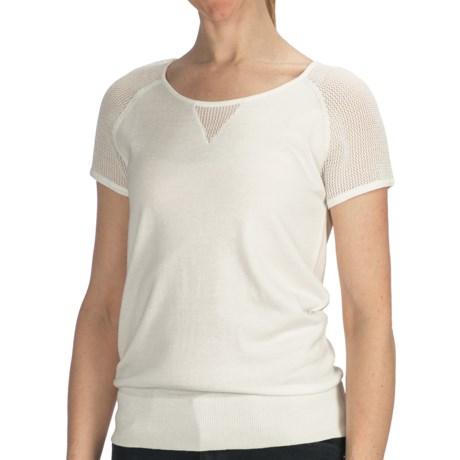 August Silk Cotton-Modal Shirt - Short Sleeve (For Women)